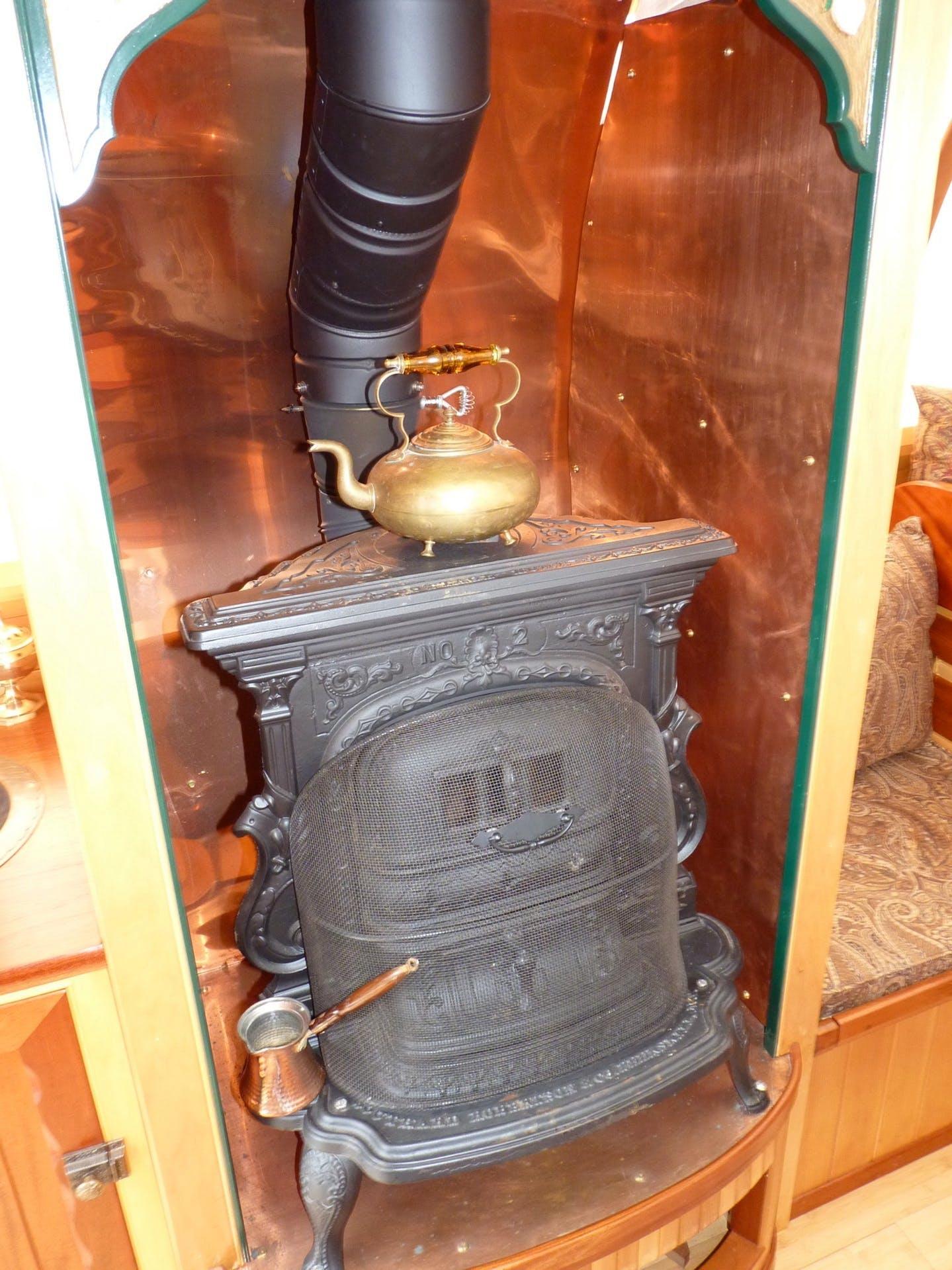 Um velho fogão restaurado