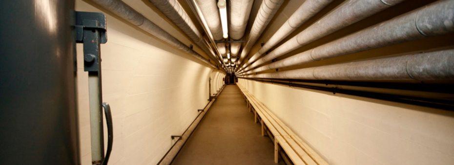 Uma rede de túneis com 300 metros de comprimento