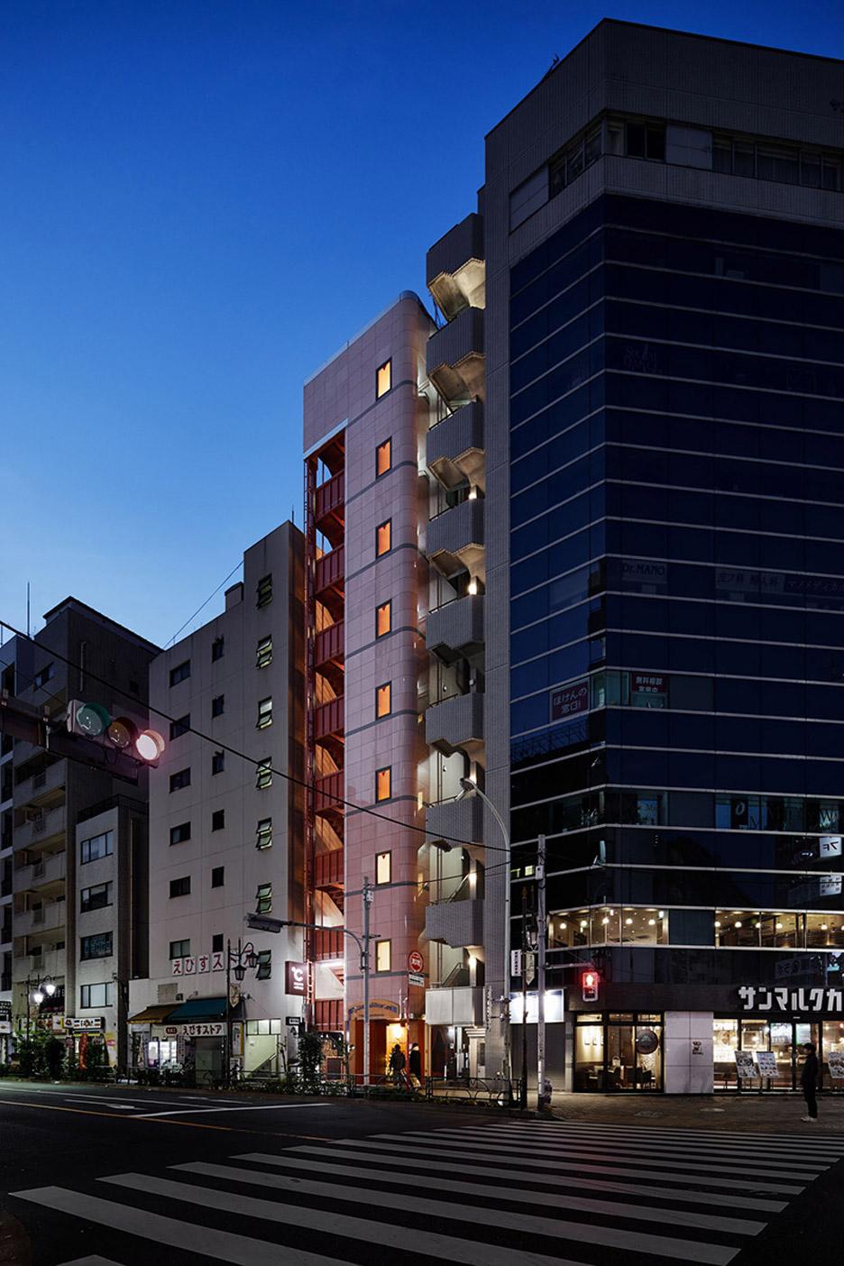 O aspeto exterior do hotel