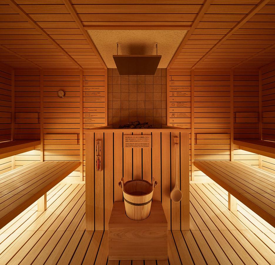 A sauna...