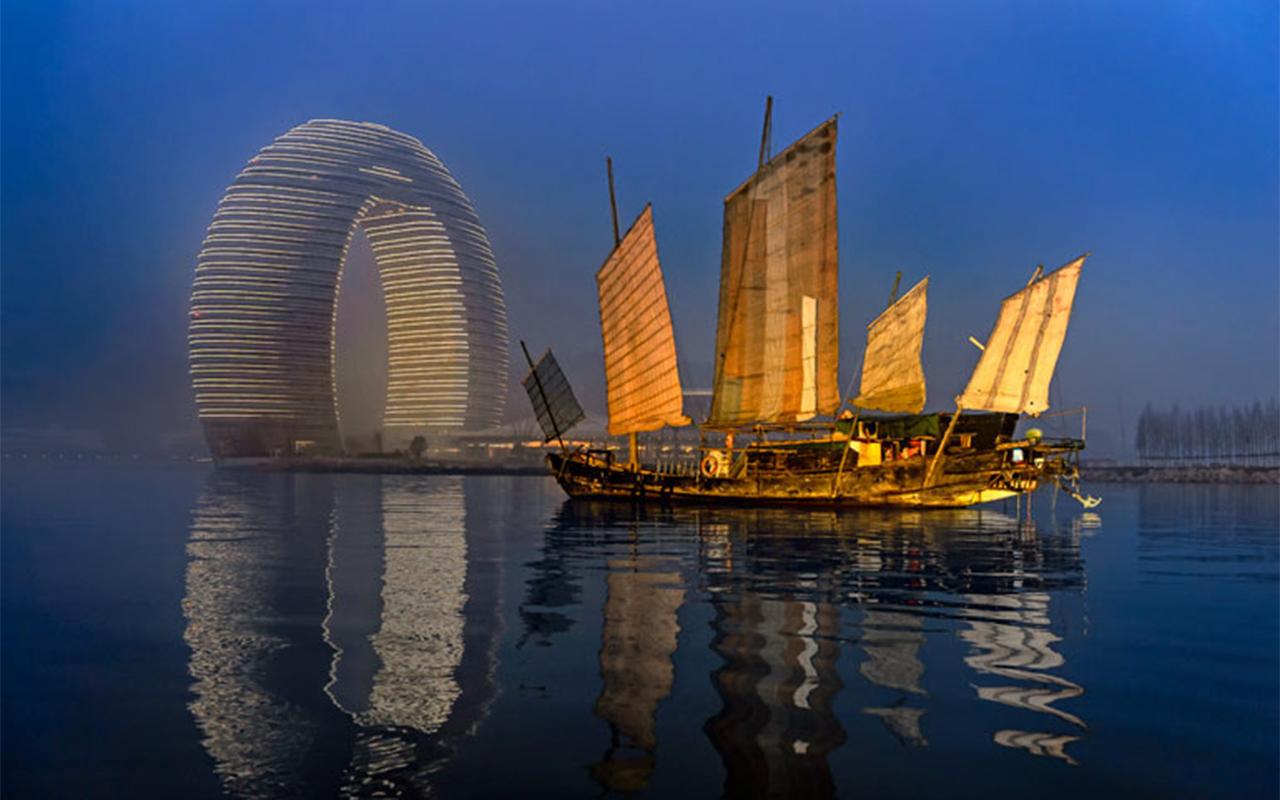 O hotel ferradura fica na China