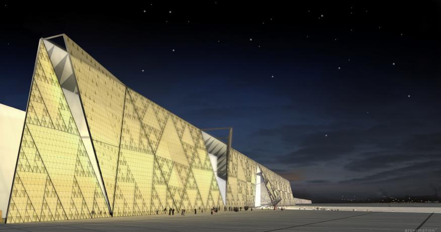 O imponente Museu Arqueológico do Egito