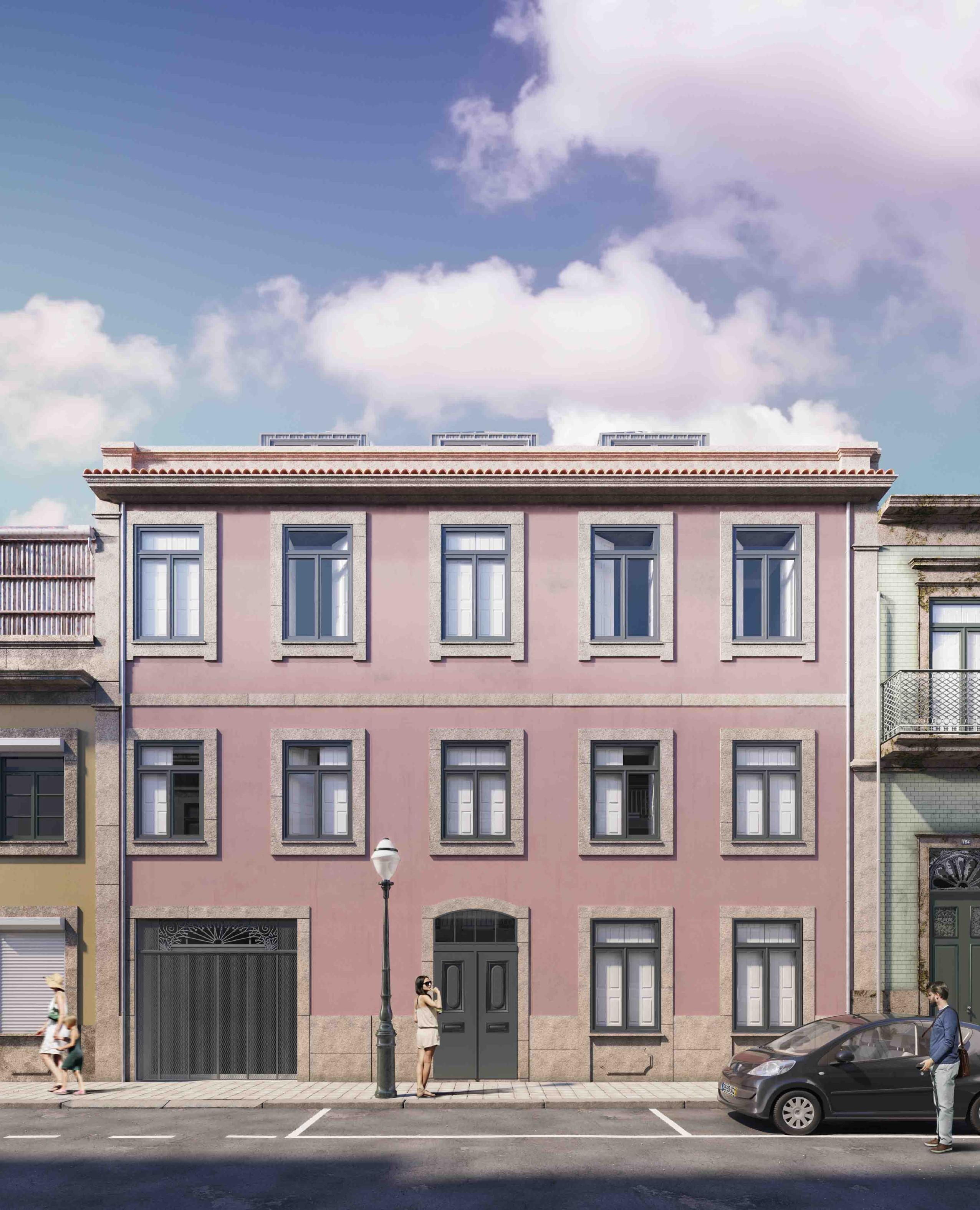 Empreendimento está situado plena Baixa do Porto, na Rua do Breiner