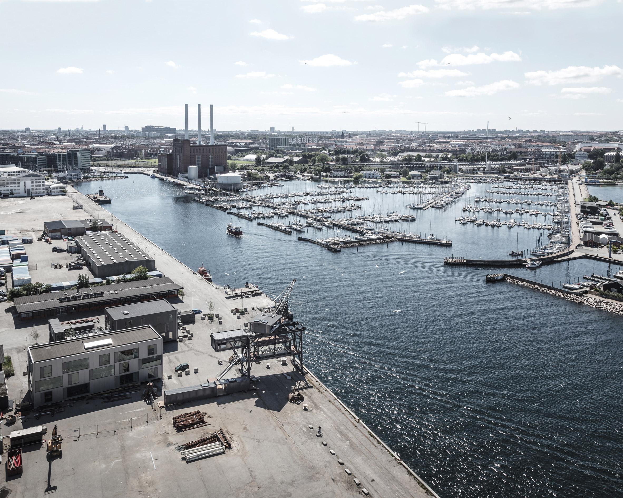 O porto de Copenhaga...