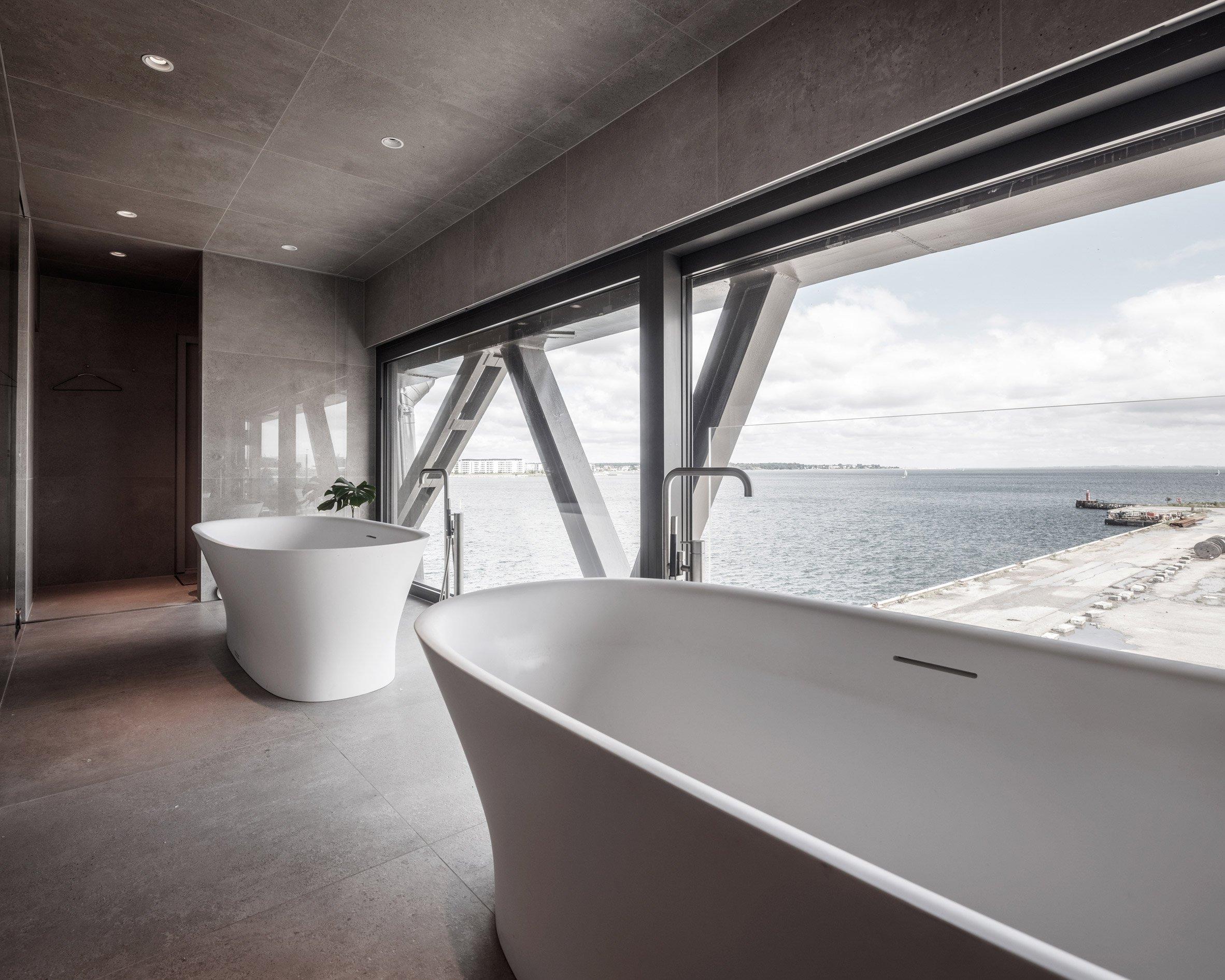 ... ou um banho com vista