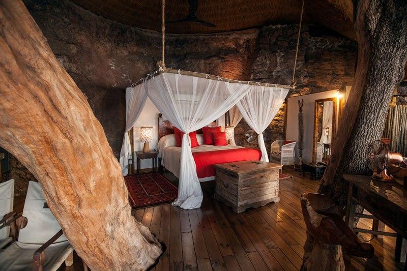 Uma cama King-size para dormir a um passo da selva...