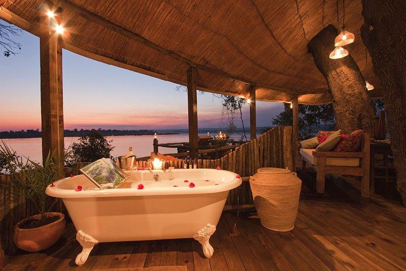Uma casa de banho com vistas espetaculares