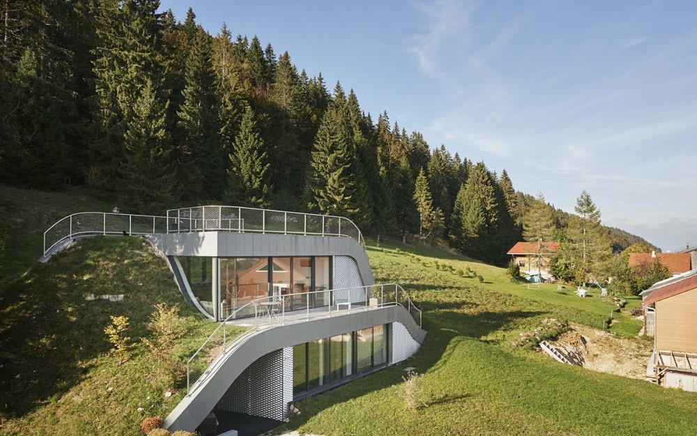 Edifícios que se integram na natureza