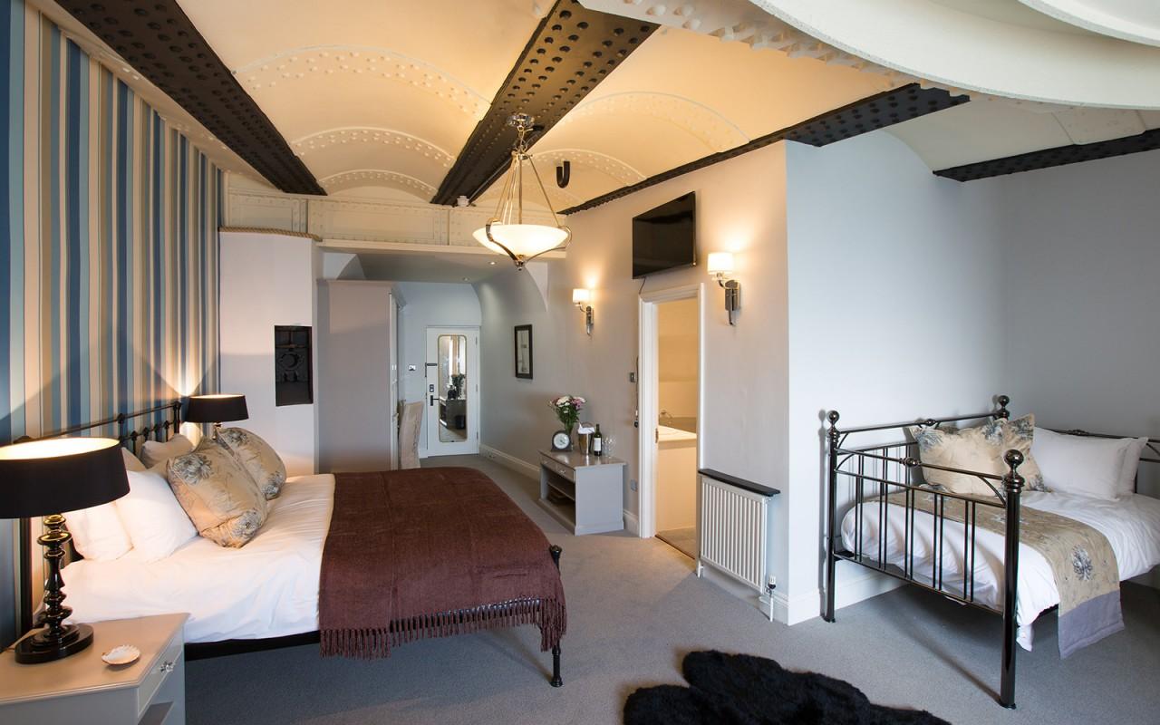 Um dos quartos mais luxuosos
