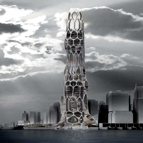 Arranha-céus futurista