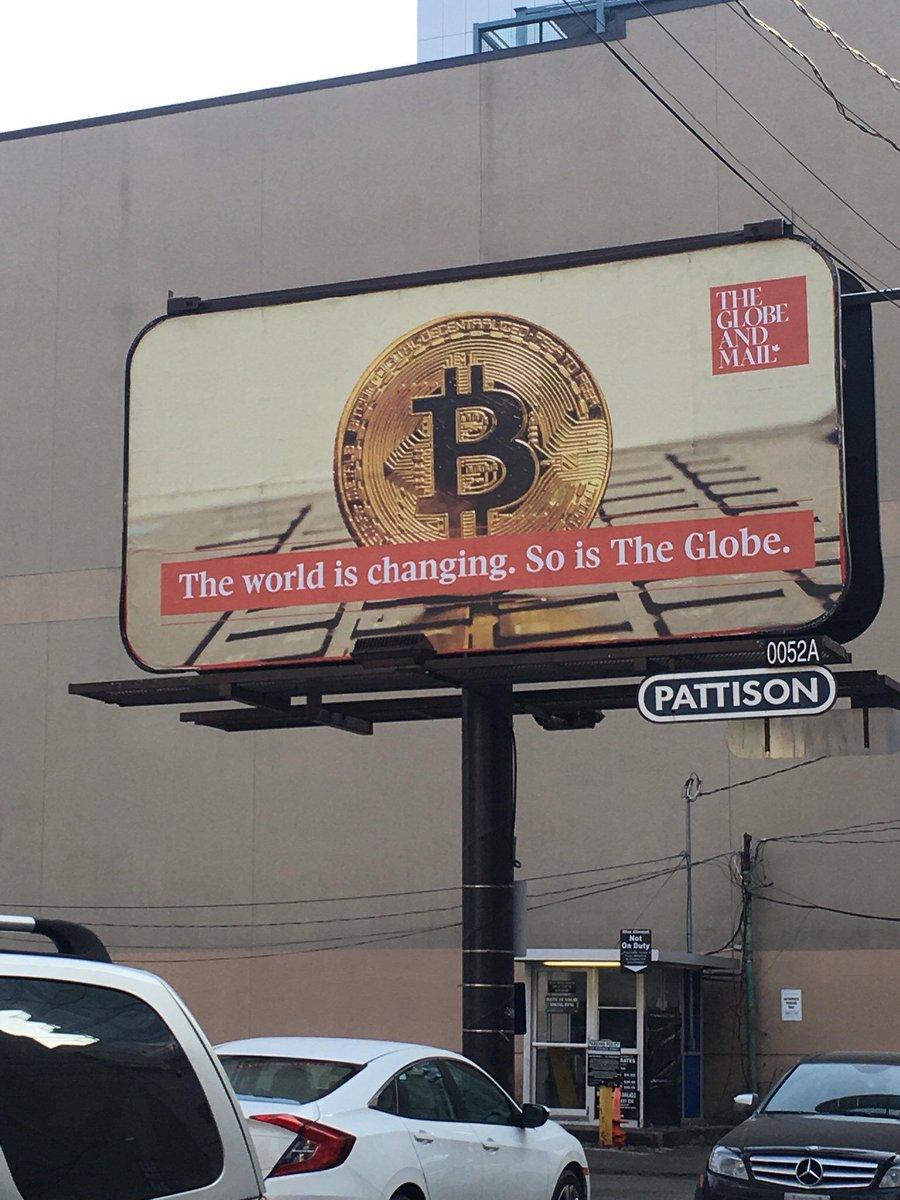 Anúncio de Bitcoin