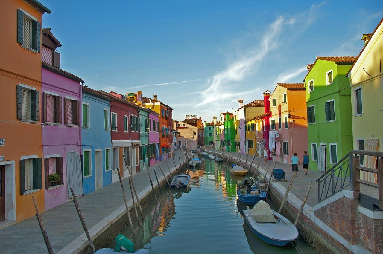 Burano, a ilha italiana de pescadores