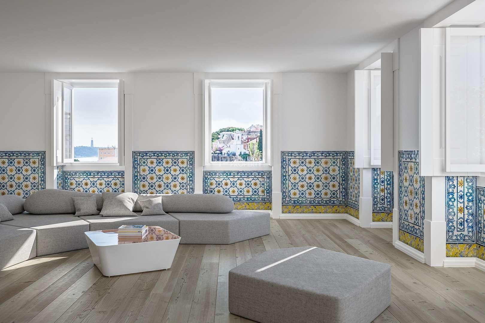 Este luxuoso T1 no Palácio de Santa Helena está à venda por 780.000 euros. / PortugalProperty.com