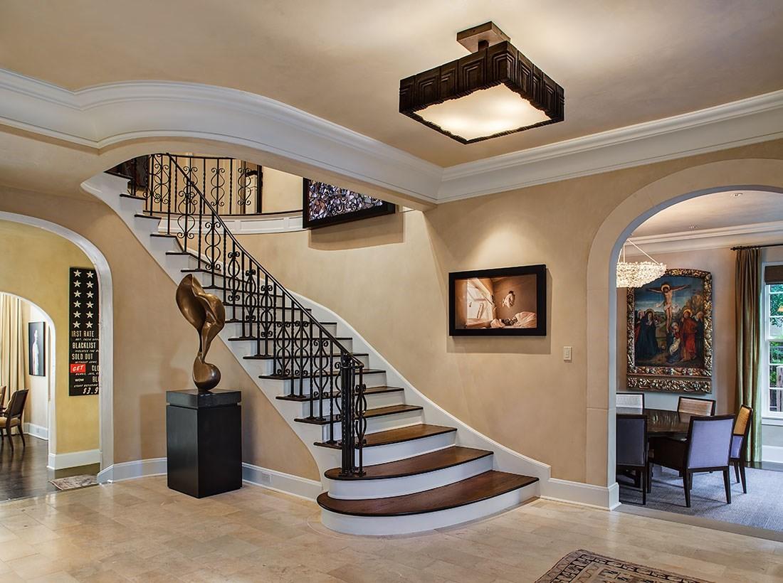 A enorme escadaria