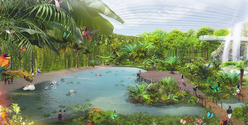 ... e terá uma grande variedade de fauna e flora