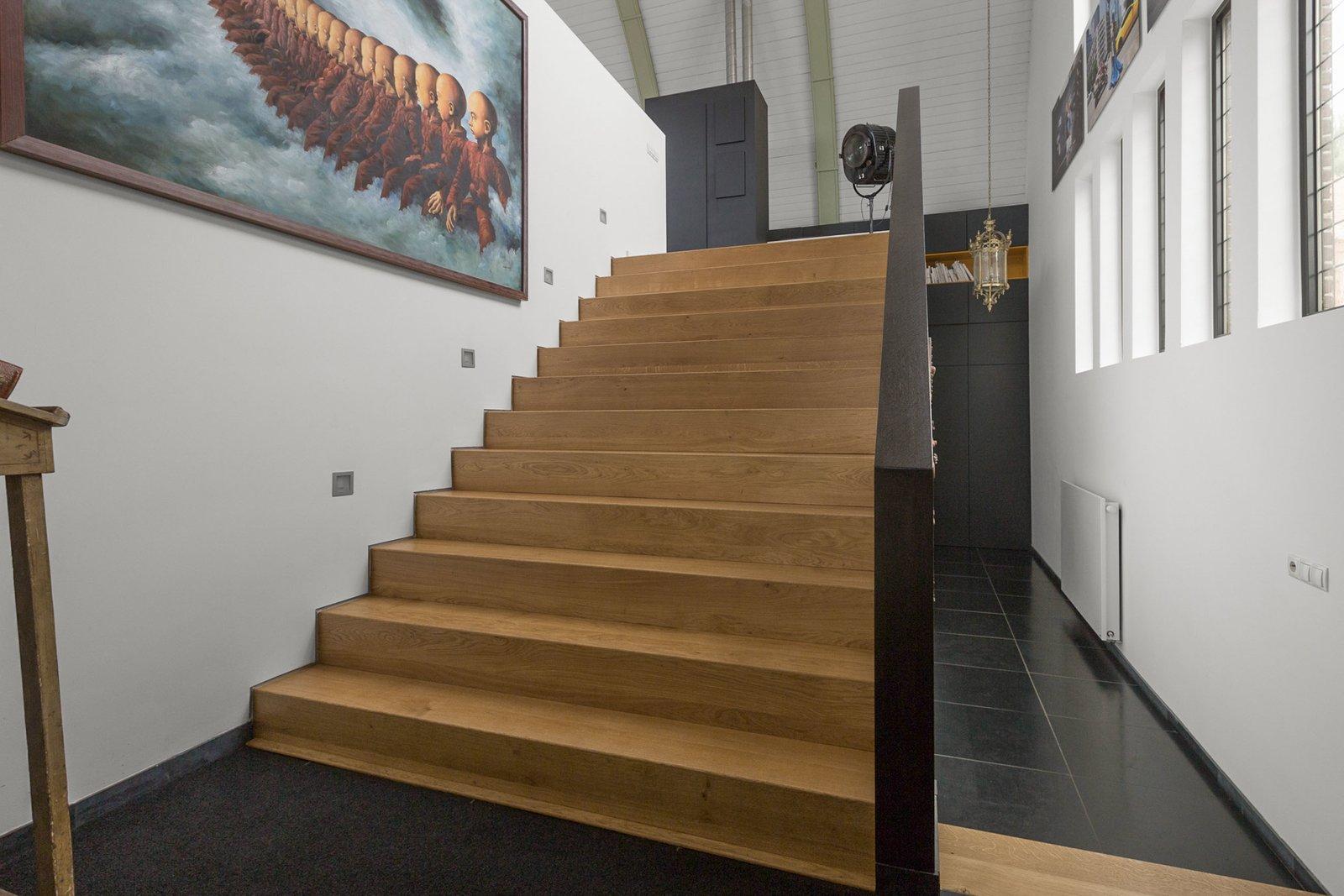 As escadas no interior