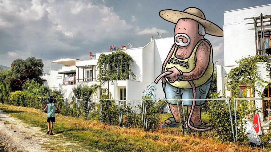 Toca a regar o jardim