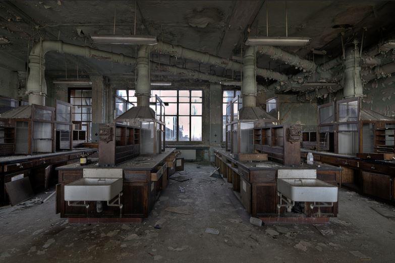 Parece um laboratório de química