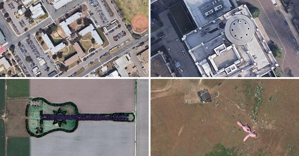 Quatro das fotografias mais curiosas captadas via Google Earth
