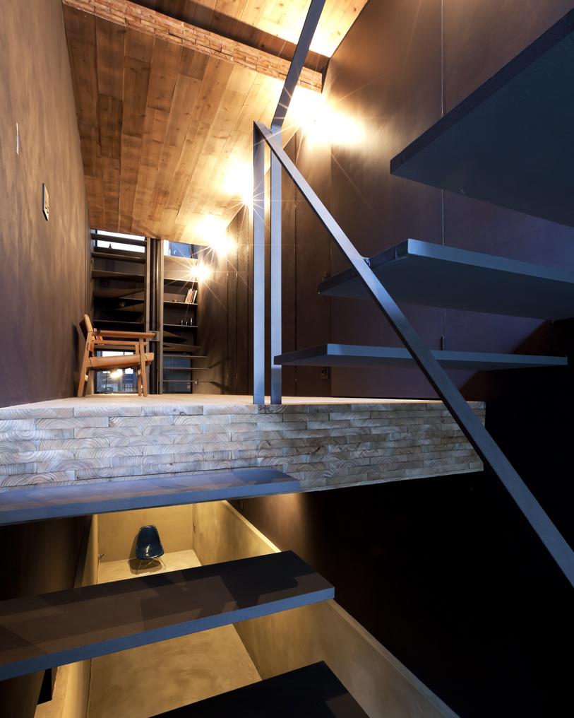 A casa tem vários andares
