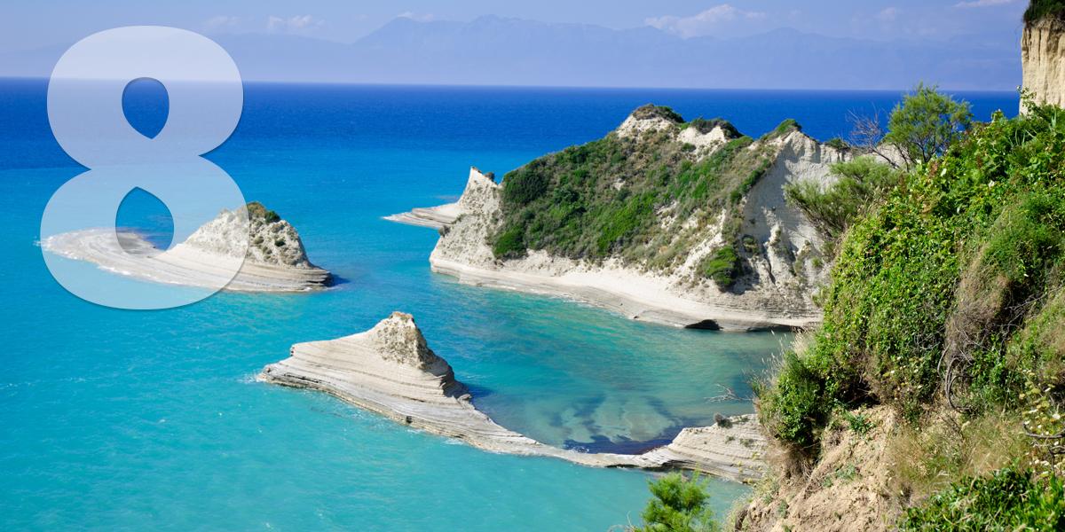 Corfú, Grécia: 91,2 libras/104,2 euros