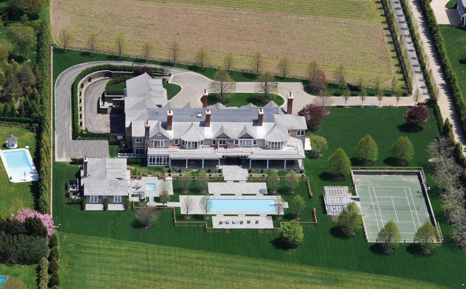 Vista aérea da mansão