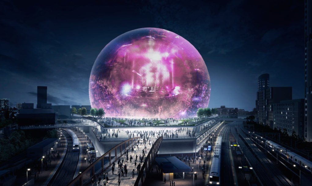 O aspeto do estádio tecnológico