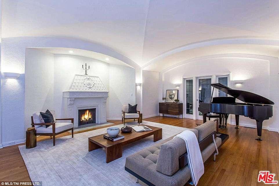 Uma sala de estar...