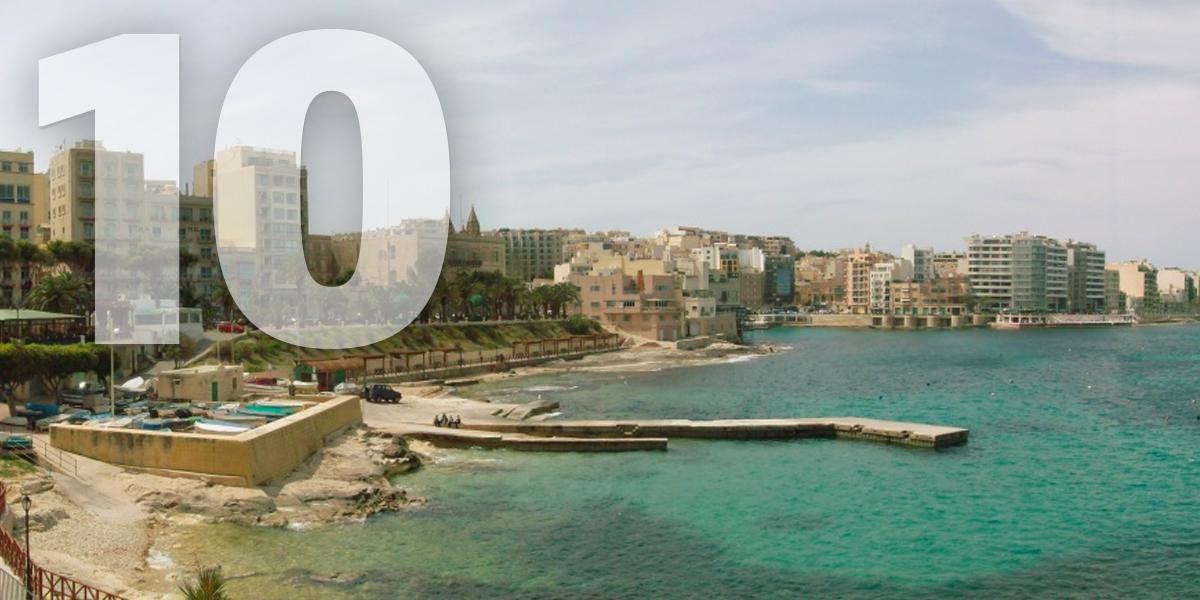 Sliema, Malta: 98,6 libras/112,6 euros