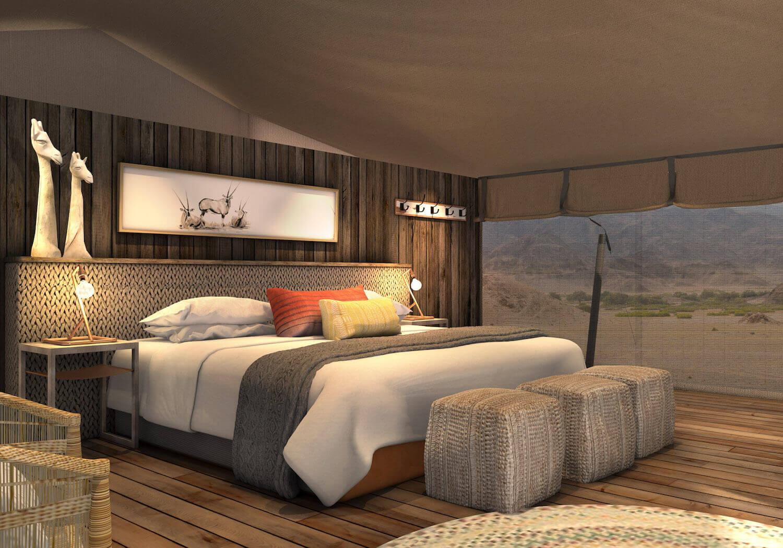 Irão passar a lua de mel num acampamento de luxo na Namíbia...