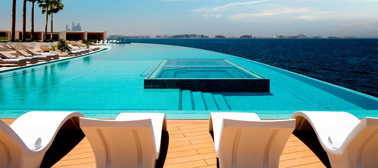 ... tal como esta piscina de horizonte infinito