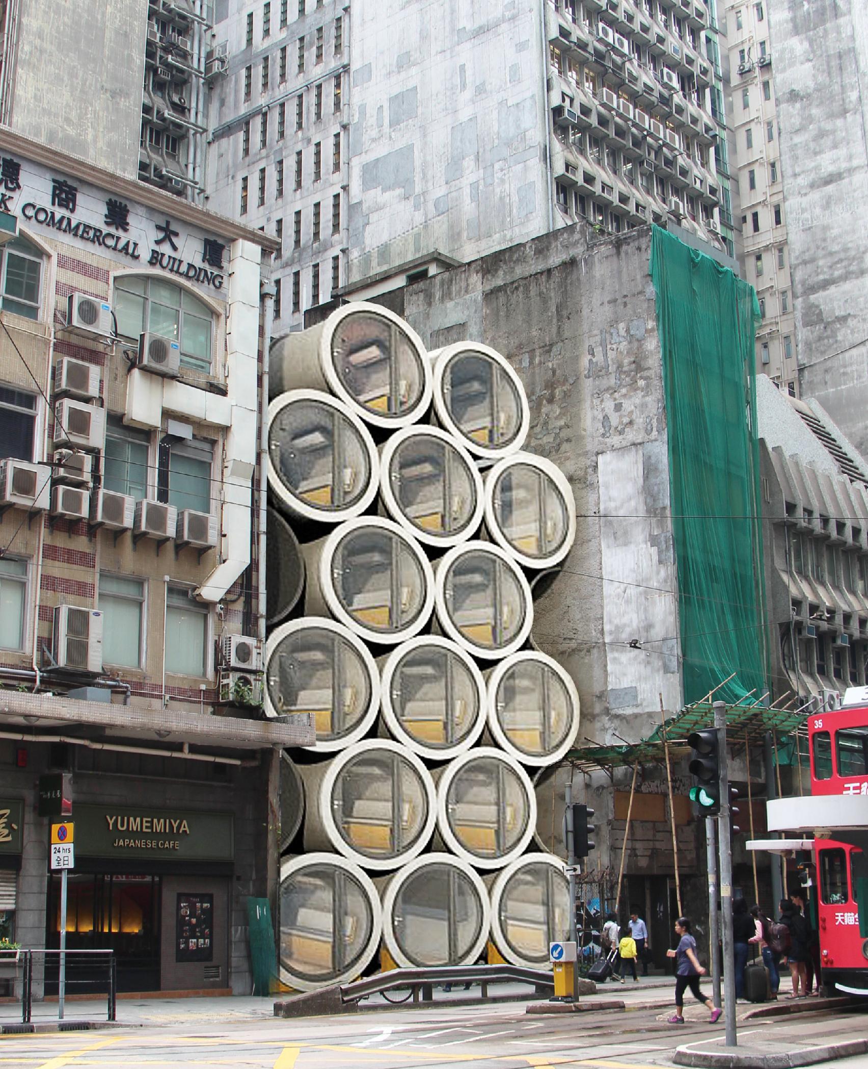As casas poderiam ser empilhadas no centro da cidade