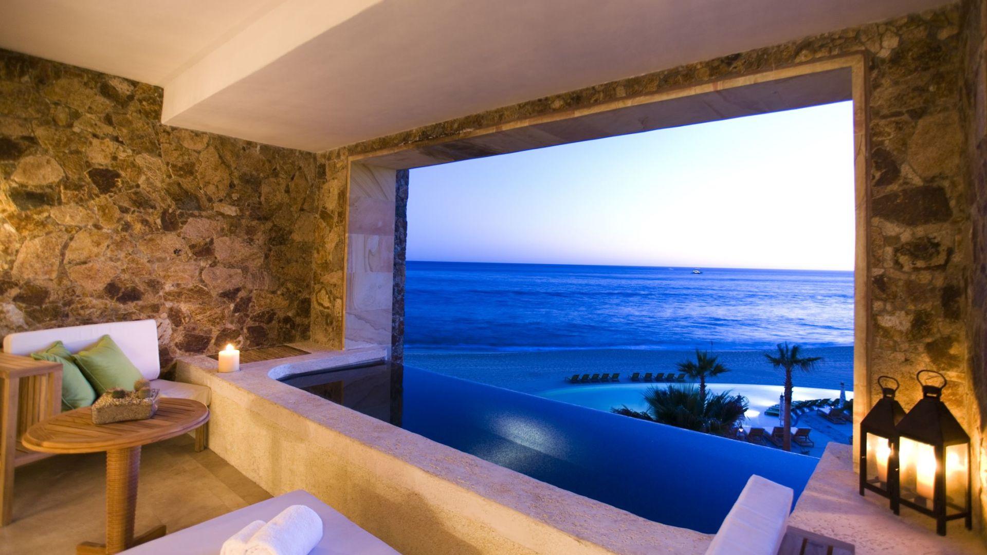 O mar visto de uma suite