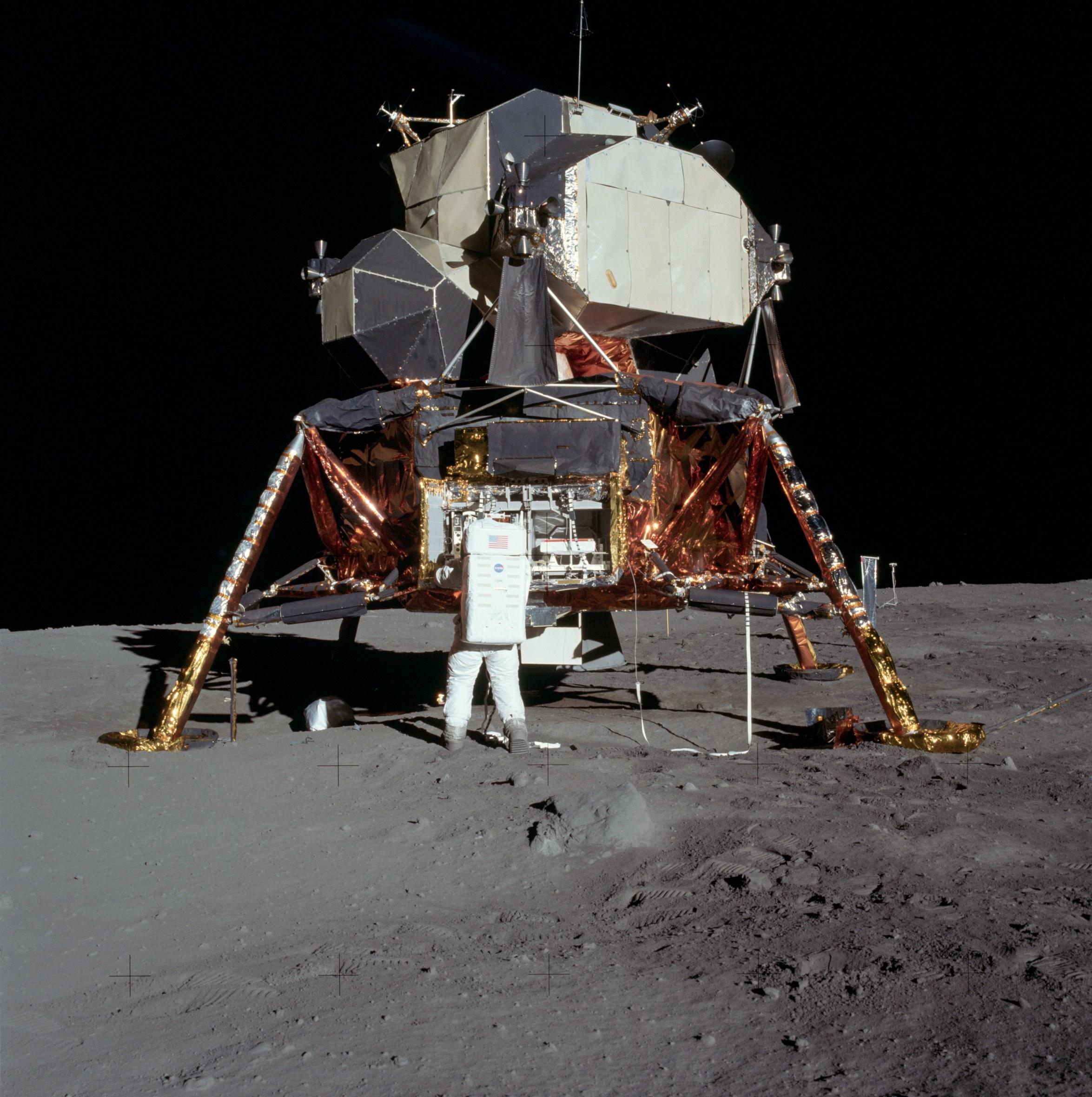"""O módulo lunar original que """"aterrou"""" na Lua em 1969"""