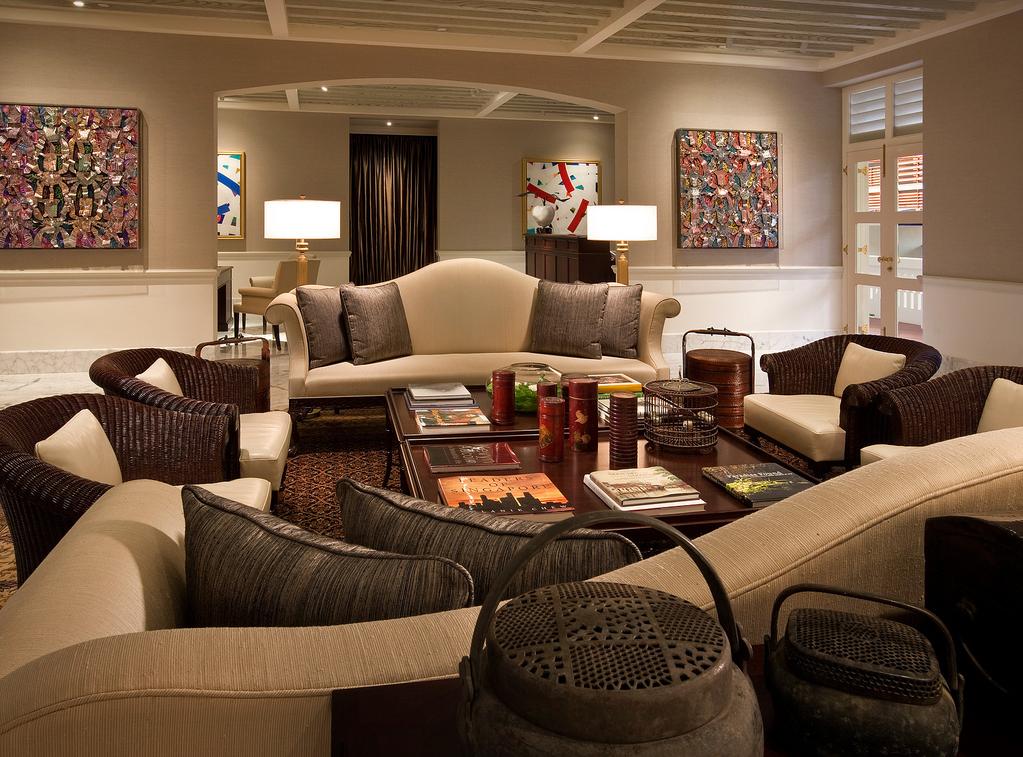 Um dos salões da suite