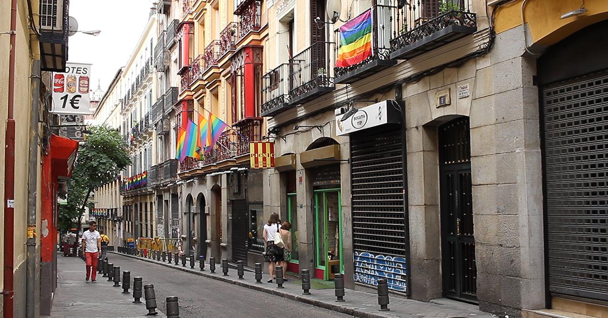 O bairro fica localizado em Madrid, Espanha