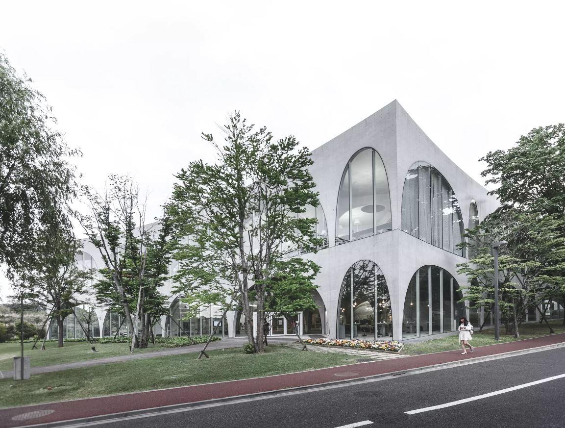 A fachada do edifício
