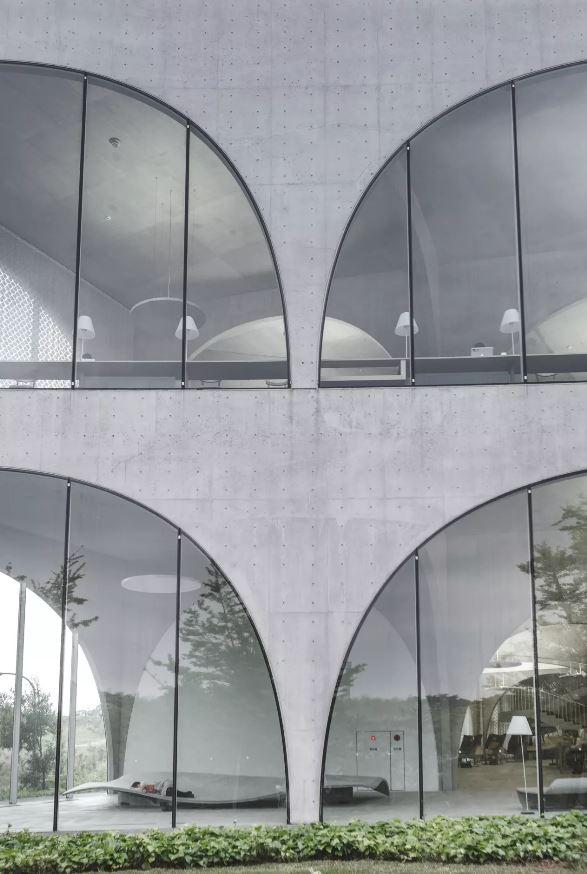 Um detalhe dos arcos