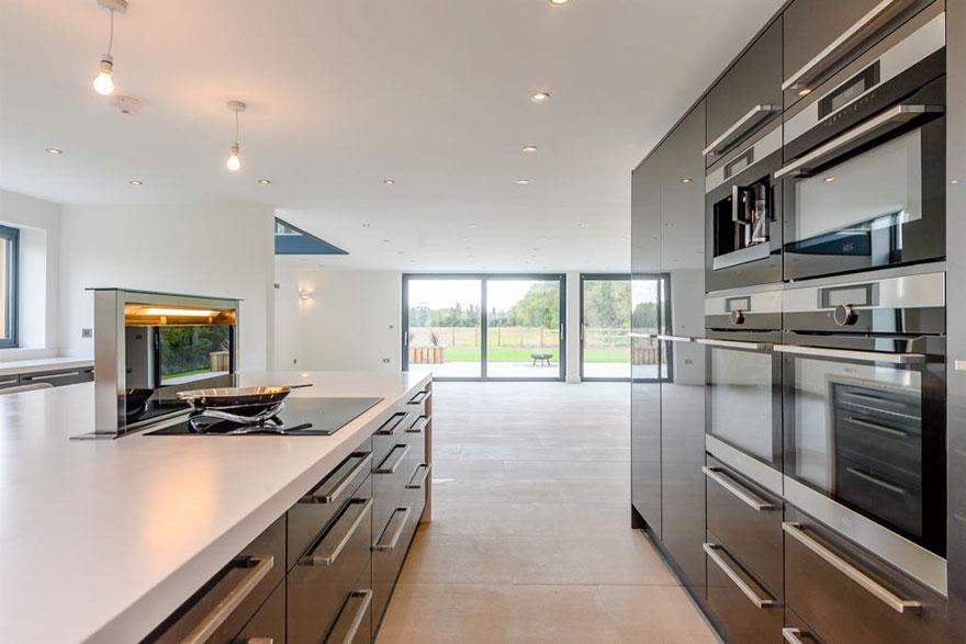 A cozinha respira modernidade
