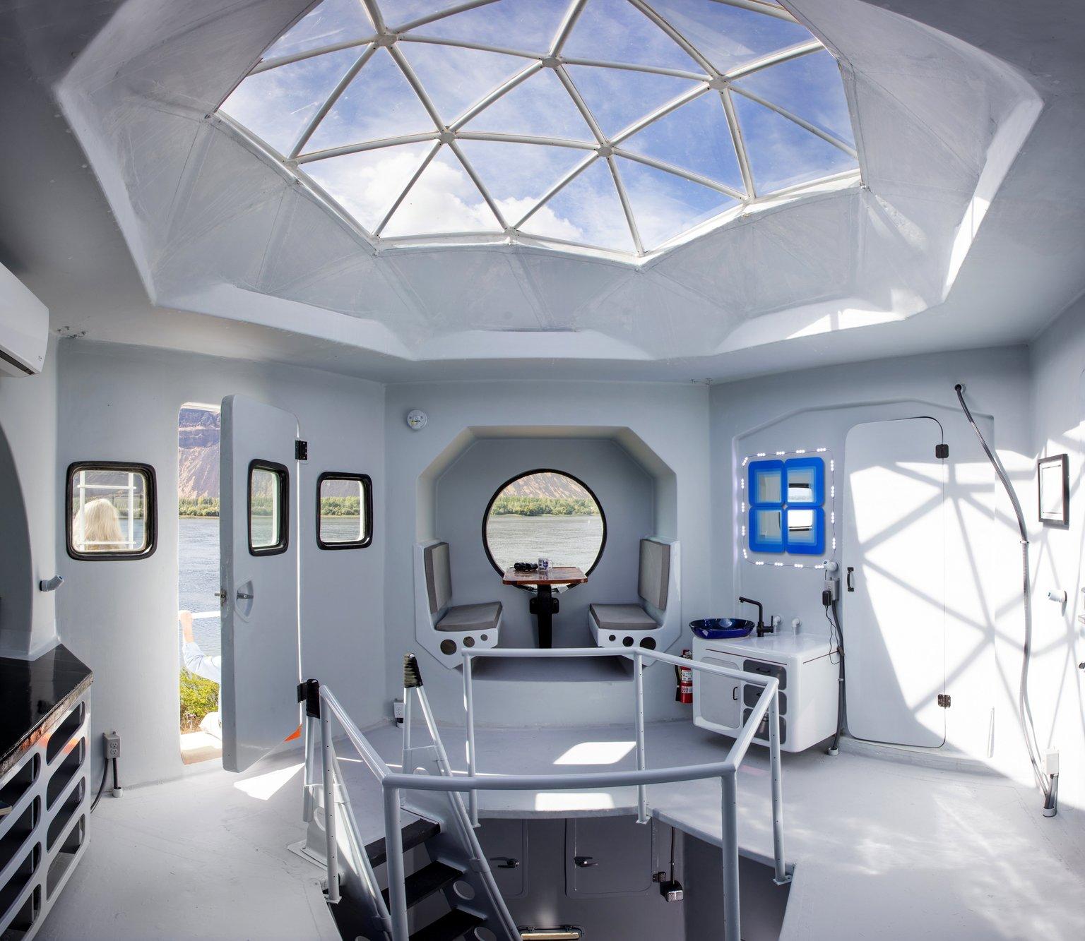 O interior da 'casa lunar'