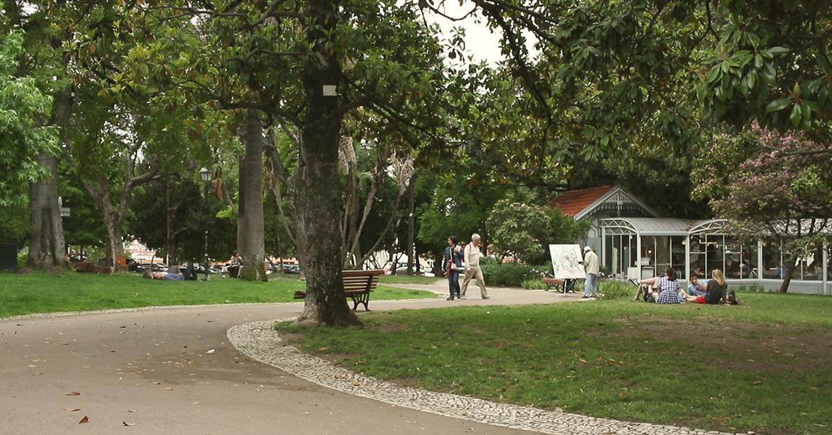 """O emblemático Jardim do Princípe Real é o coração do bairro """"arco-íris"""""""