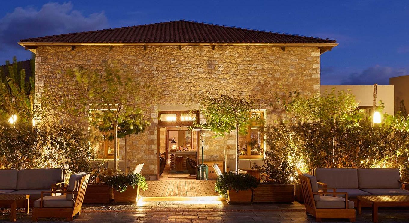 Entrada para as villas do complexo The Romanos