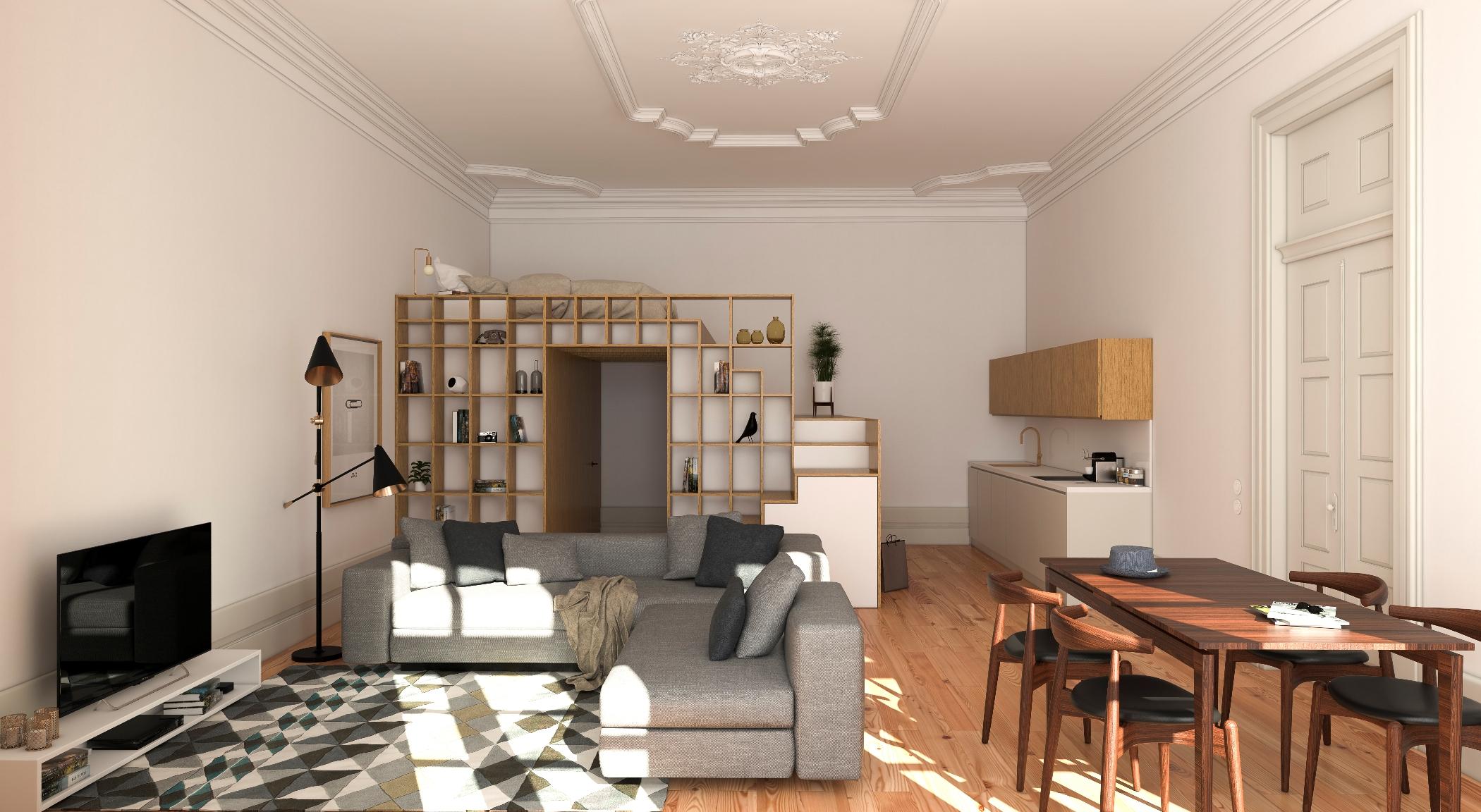 Cinco apartamentos estarão disponíveis para venda e três para arrendamento
