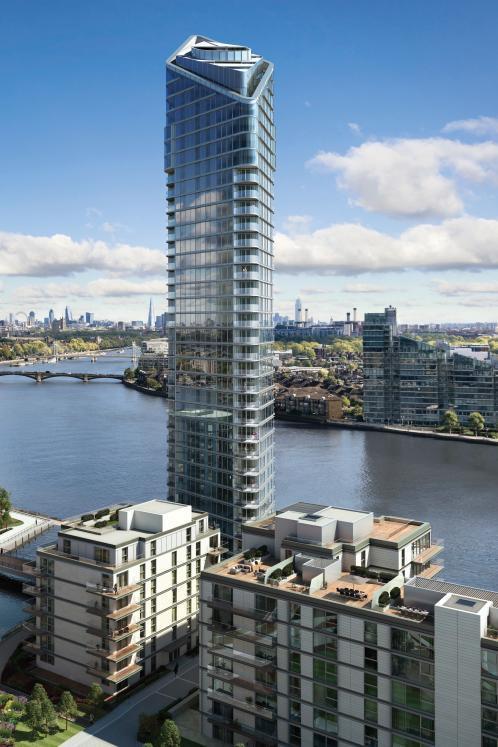 O edifício integra o projeto Chelsea Waterfront