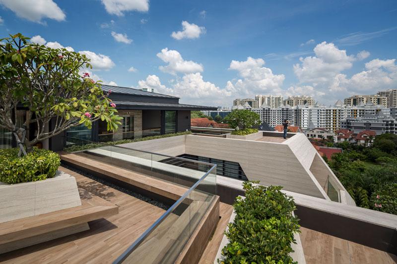 Os terraços da mansão