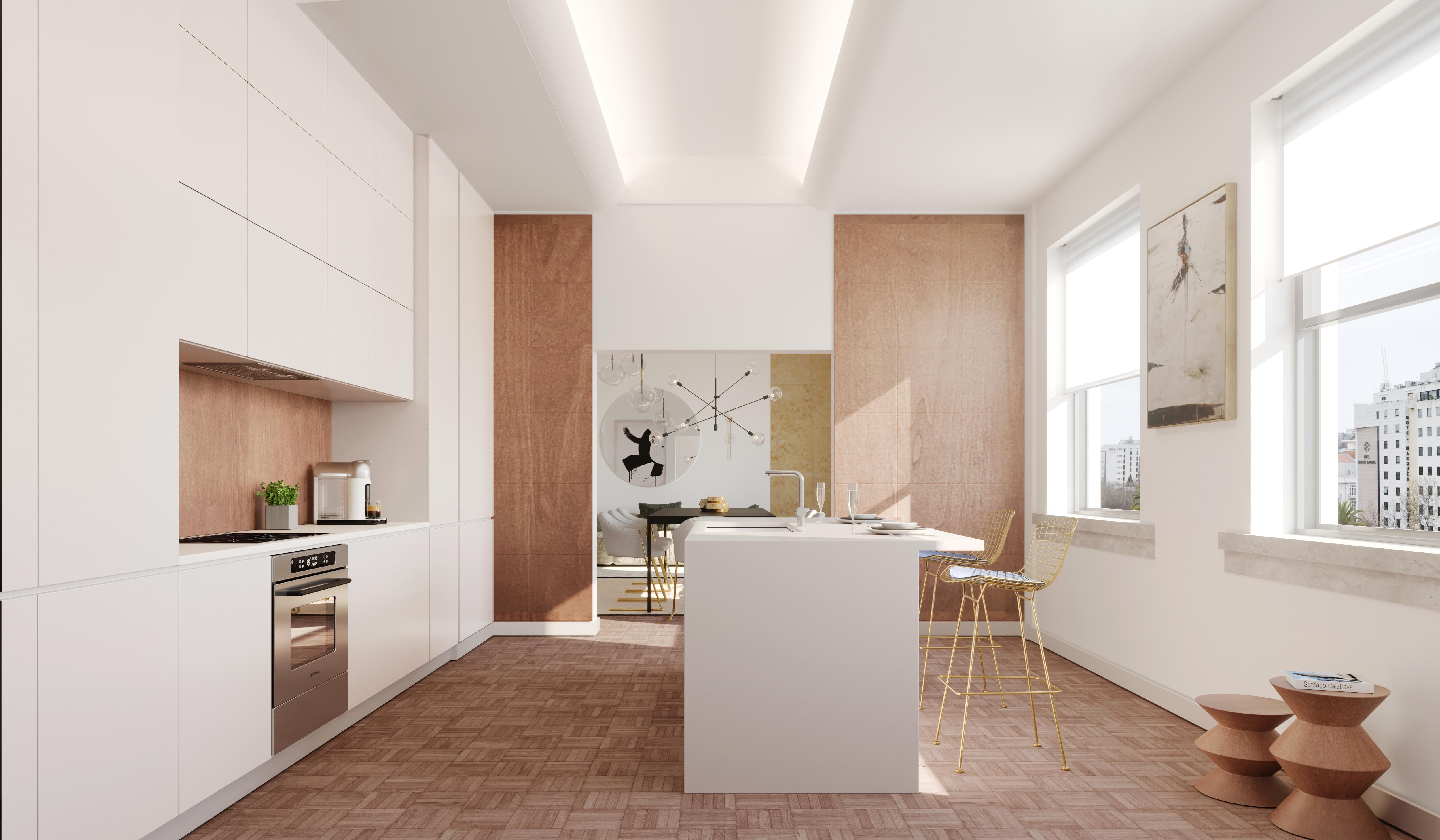 """A """"moderna"""" cozinha de um dos T3 / Avenue"""