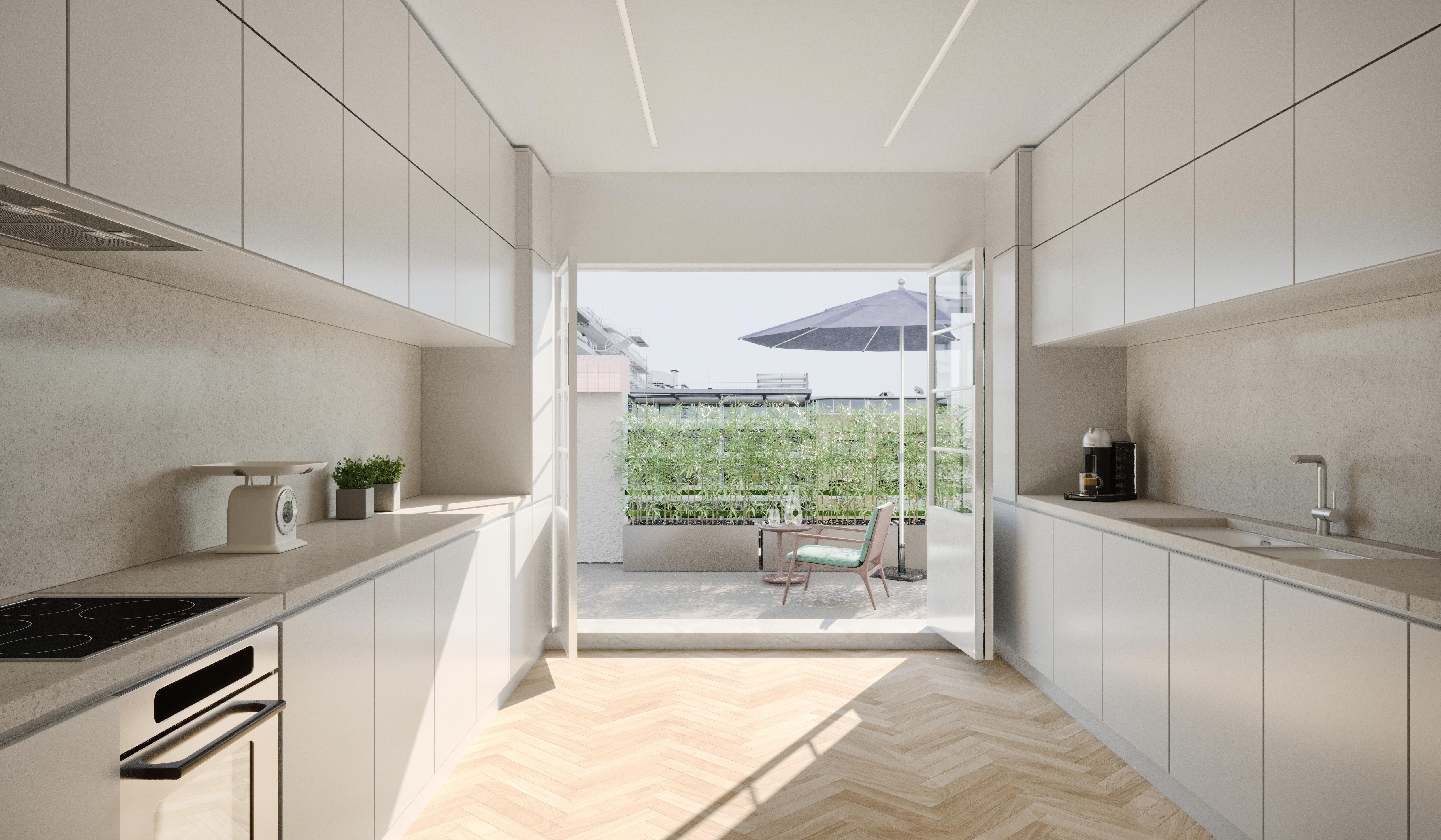 Cozinha com acesso à varanda / Avenue