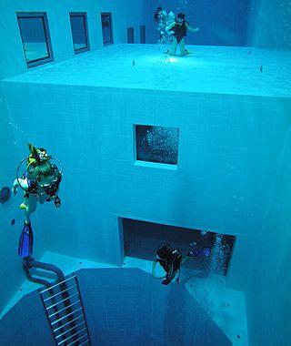 Fazer mergulho... dentro da piscina