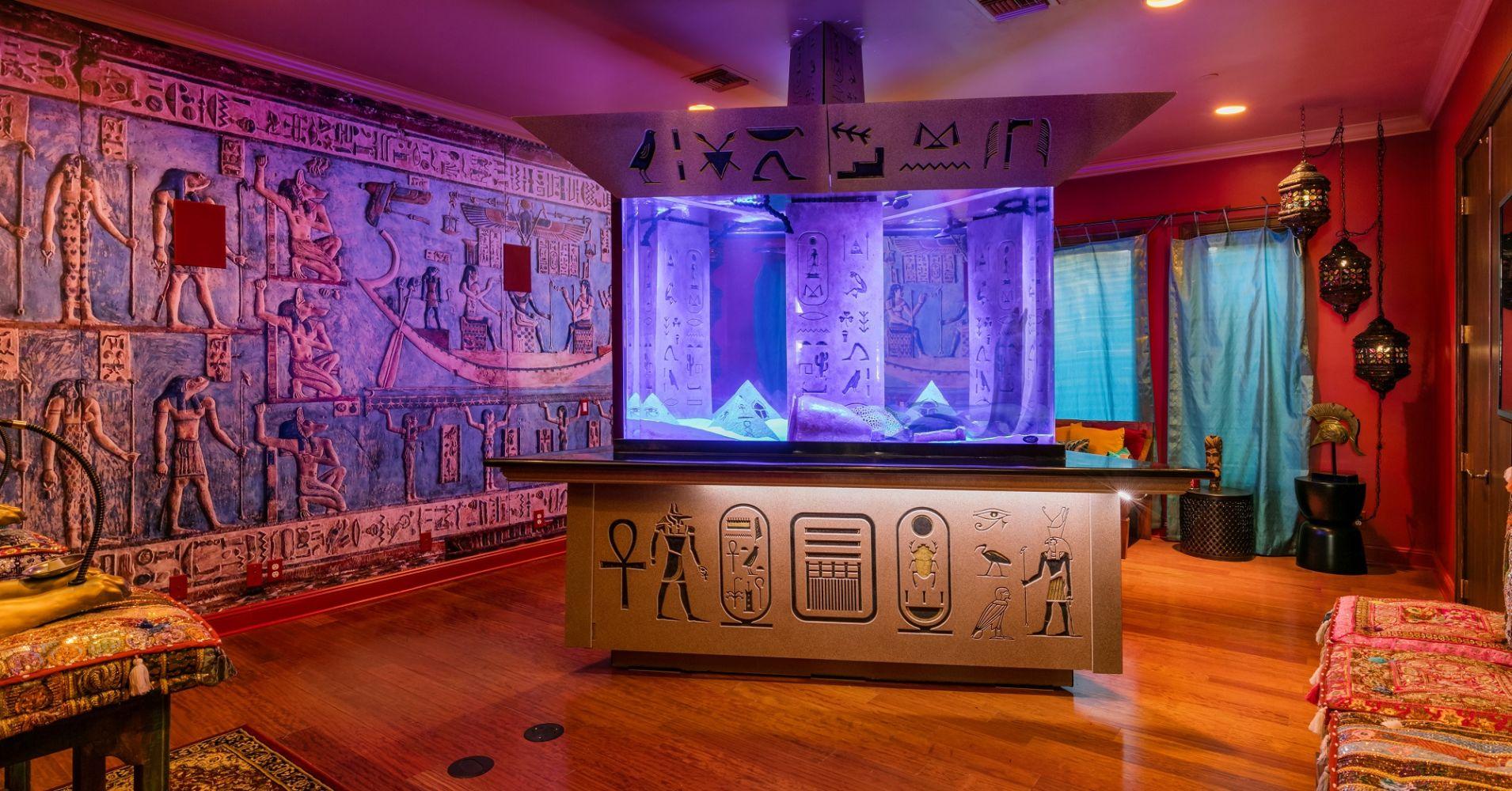 Um salão egípcio para relaxar