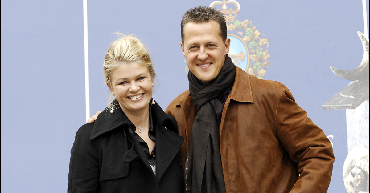 O casal Schumacher durante a celebração do prémio Príncipe de Astúrias 2007